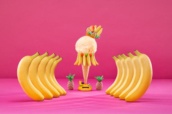 Mango, marakuja, banana